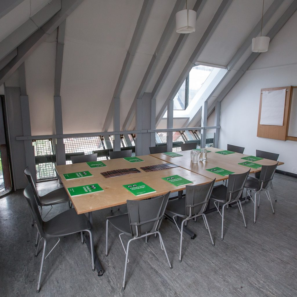 Meeting room at the Albany set up in board room style for 12