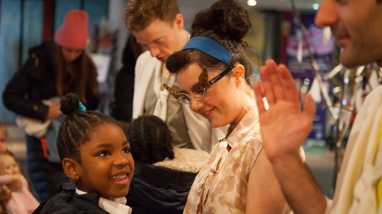 Children from Childeric School visit The Albany in Deptford, London to see 'The Ugly Duckling' as part of Every Child. Photo Chris Marchant.