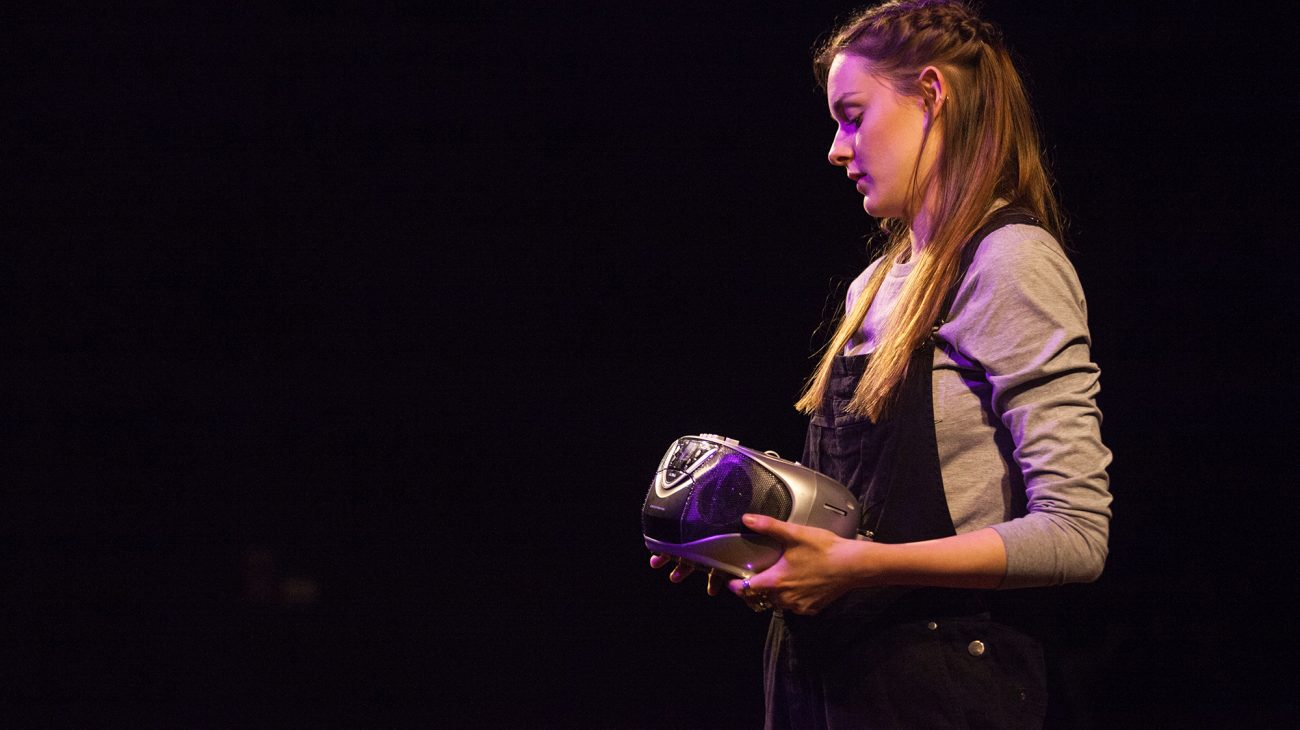 Cecilia Knapp performing Finding Home at The Last Word, the Roundhouse