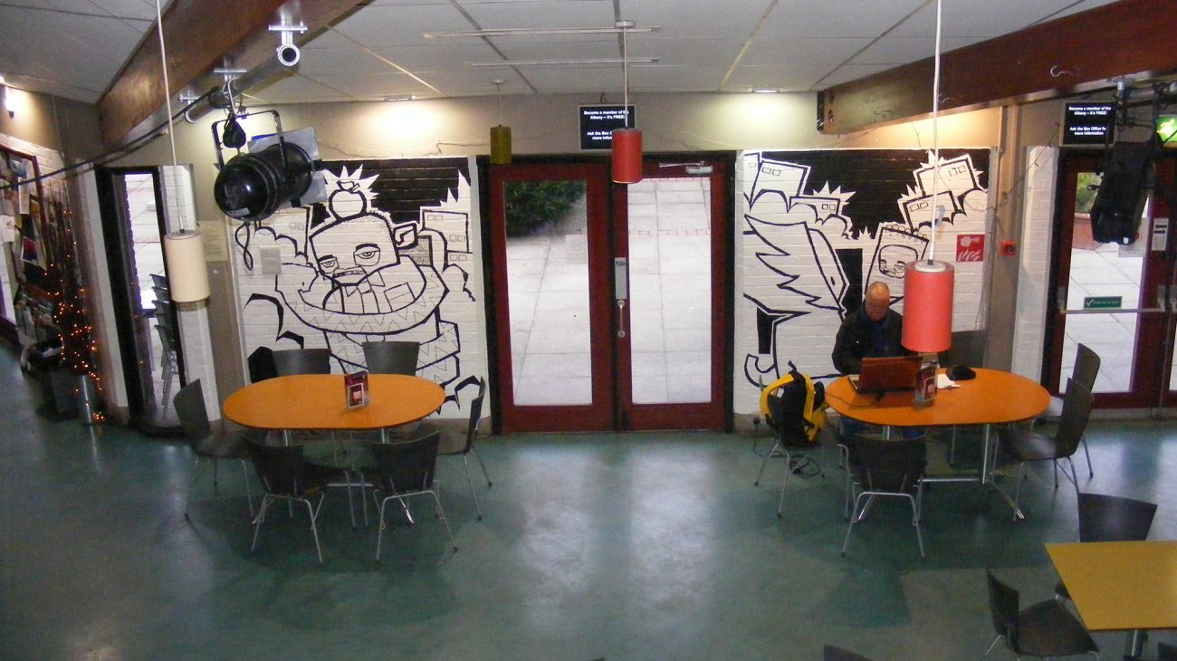 Goonism Exhibition in the Albany café in 2009