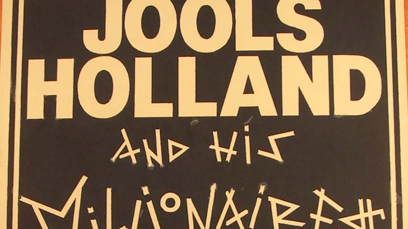 Vintage poster for Jools Holland and his Millionaires at the Albany Empire.