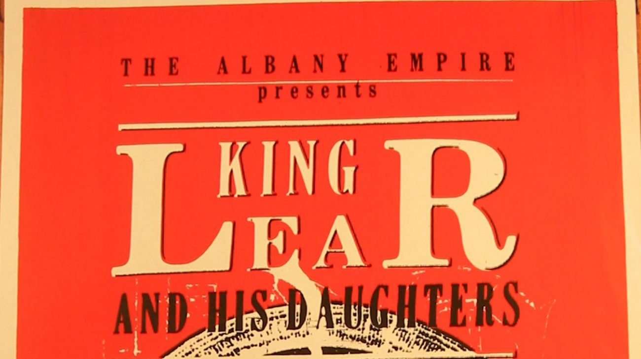Poster for King Lear at the Albany Empire.
