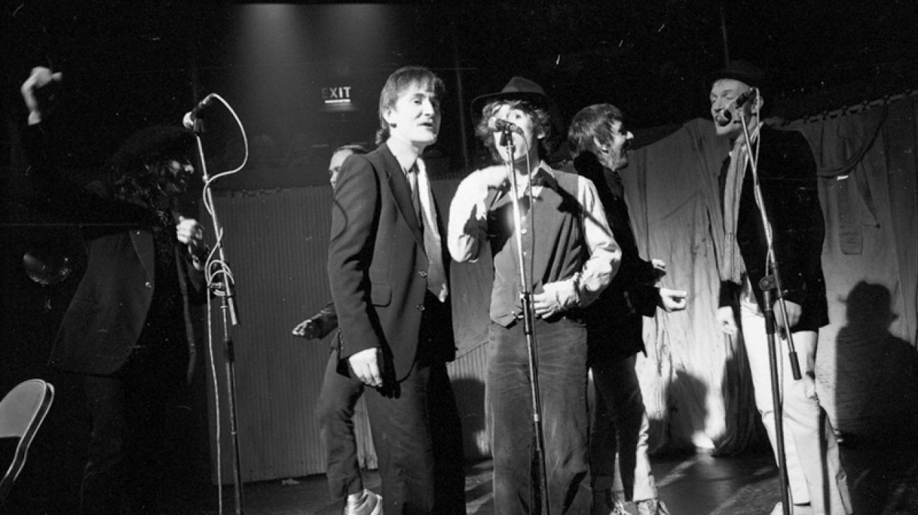 Flying Pickets performing at the Albany in 1983.