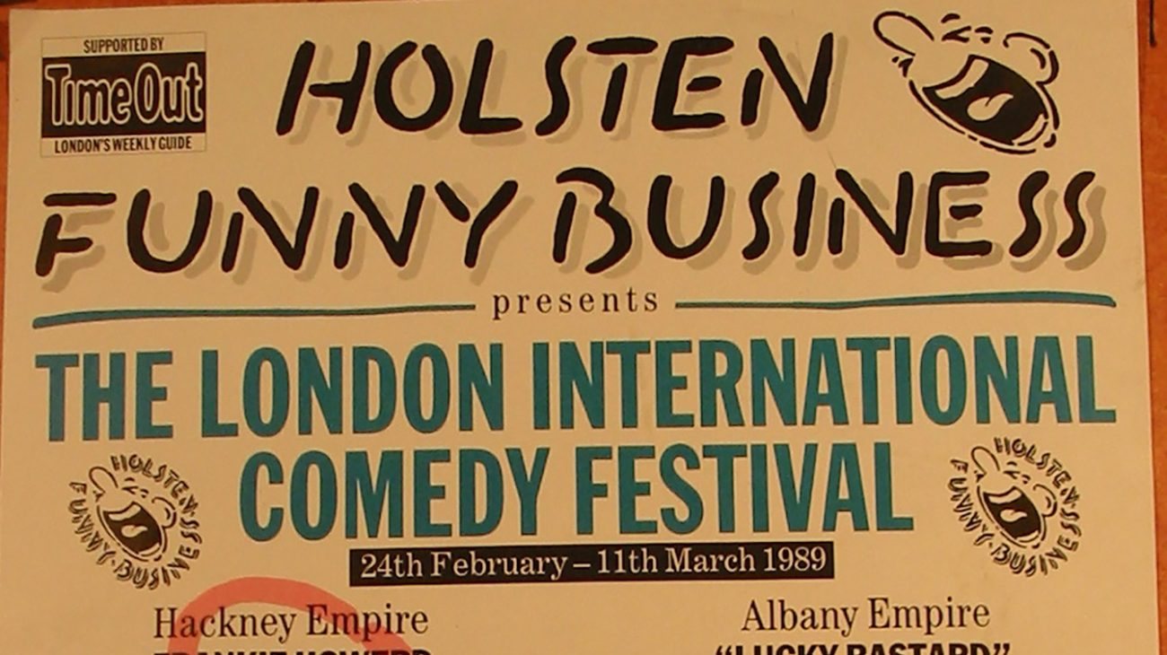 Comedy festival poster for a mixed bill night at the Albany Empire and Hackney Empire.
