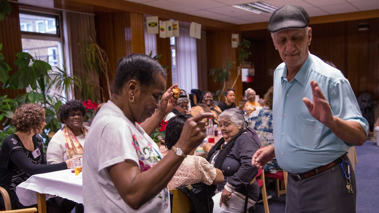 Dancing at the Meet Me at Lewisham Homes Christmas Party. Photo Roswitha Chesher.