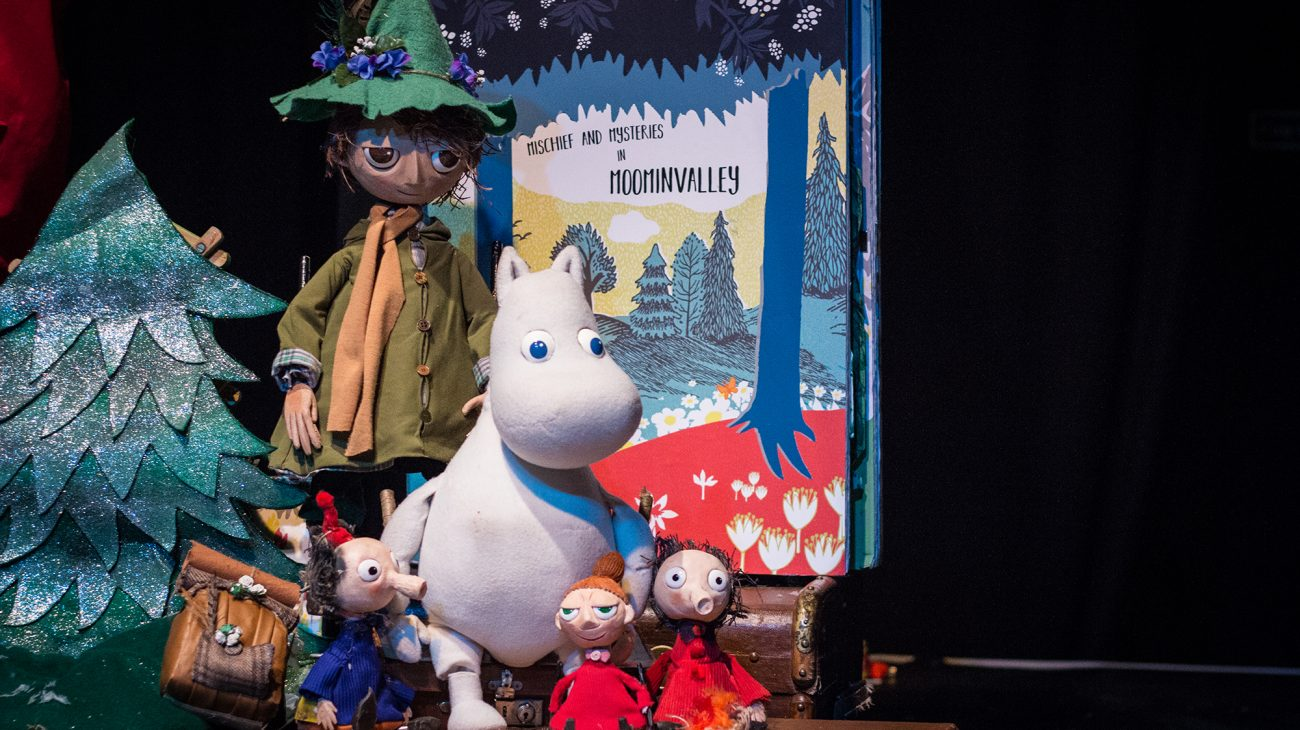 Mischief and Mystery in Moomin Valley production shot. Photography by Emma Myrtle.
