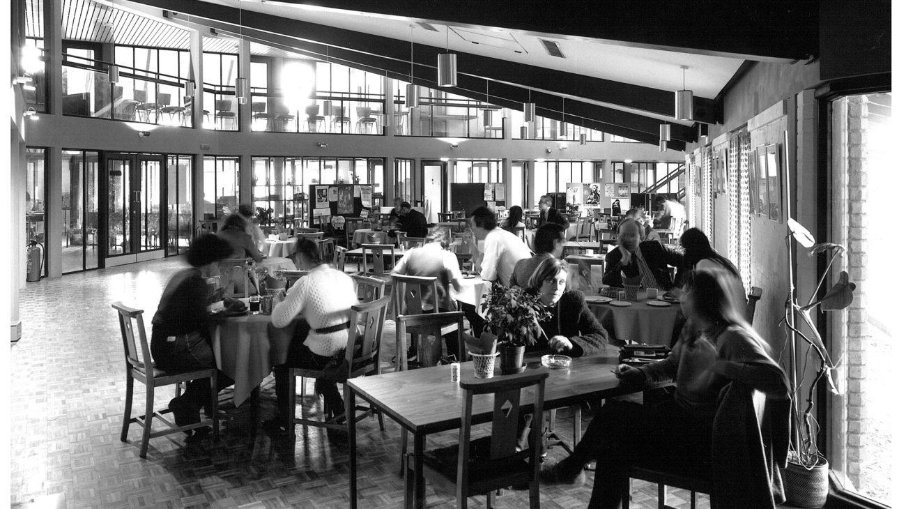 The Albany café  in the 1980s.