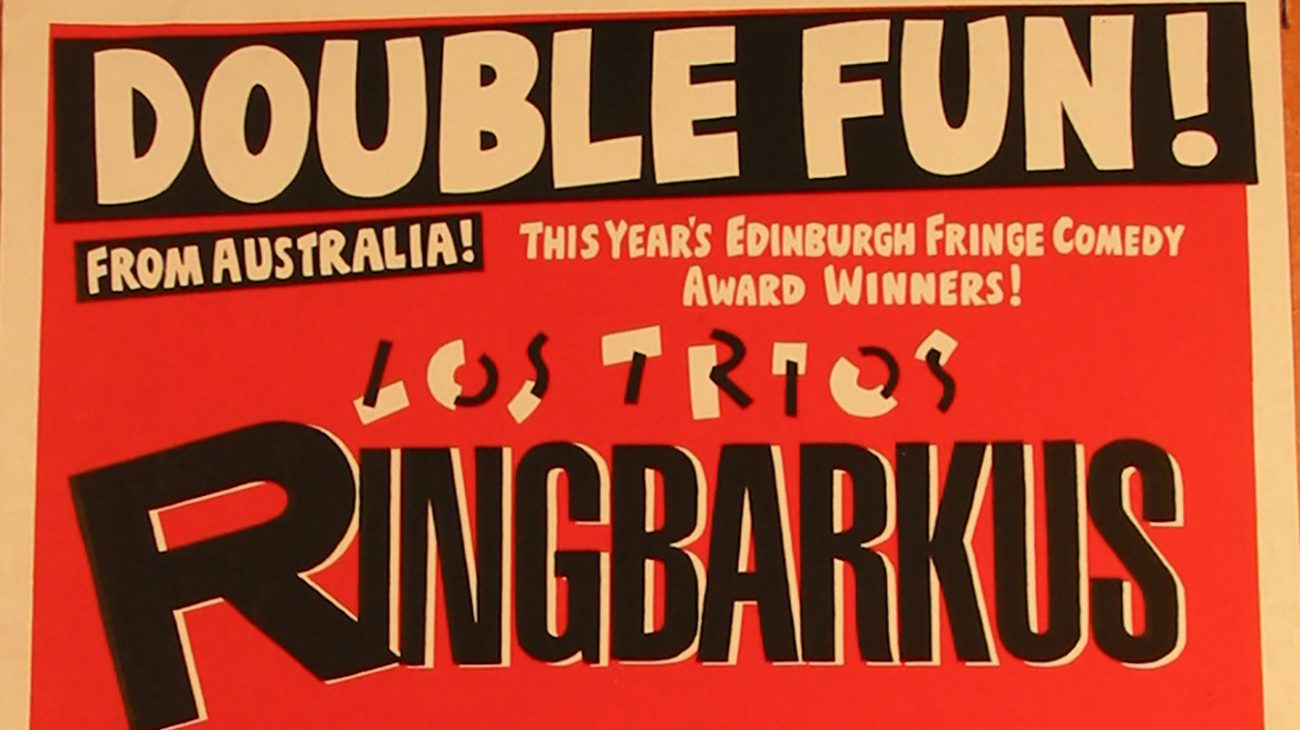Poster for a comedy double bill at the Albany Empire.