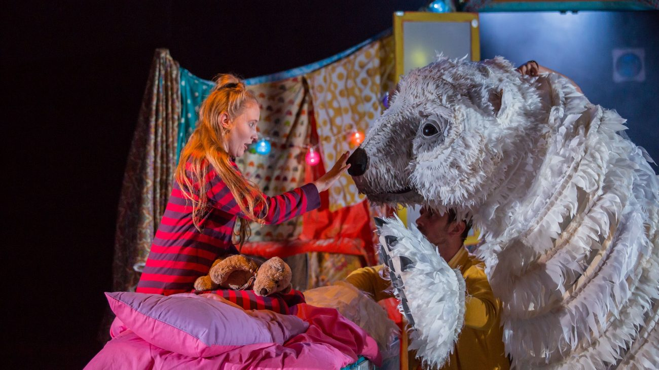 The Bear by Raymond Briggs, adapted by Pins and Needles Productions. Photo Paul Blakemore.