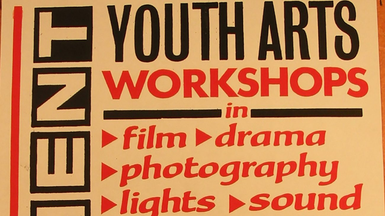 Poster for 'youth workshops' at the Albany Empire.