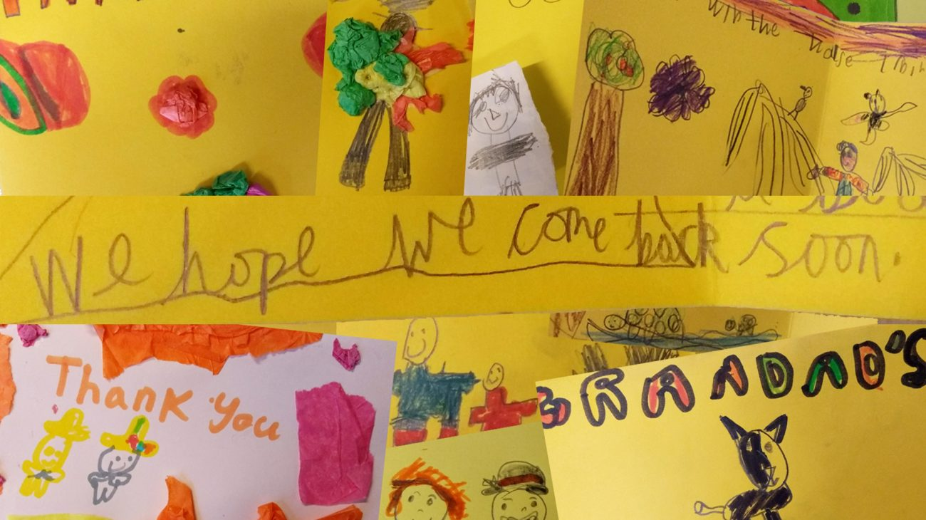 Thank you cards from some of the children who've benefitted to our partners, donors and sponsors.