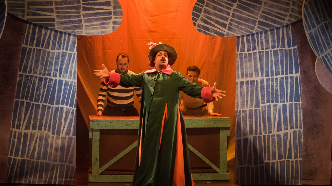 A production photo from Pinocchio. Photo Liam Croucher.
