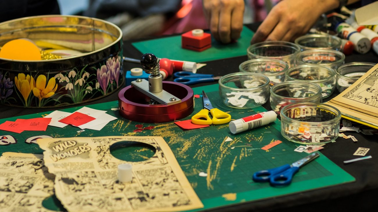Craft activity at Winter Spectacular at Deptford Lounge in 2016.