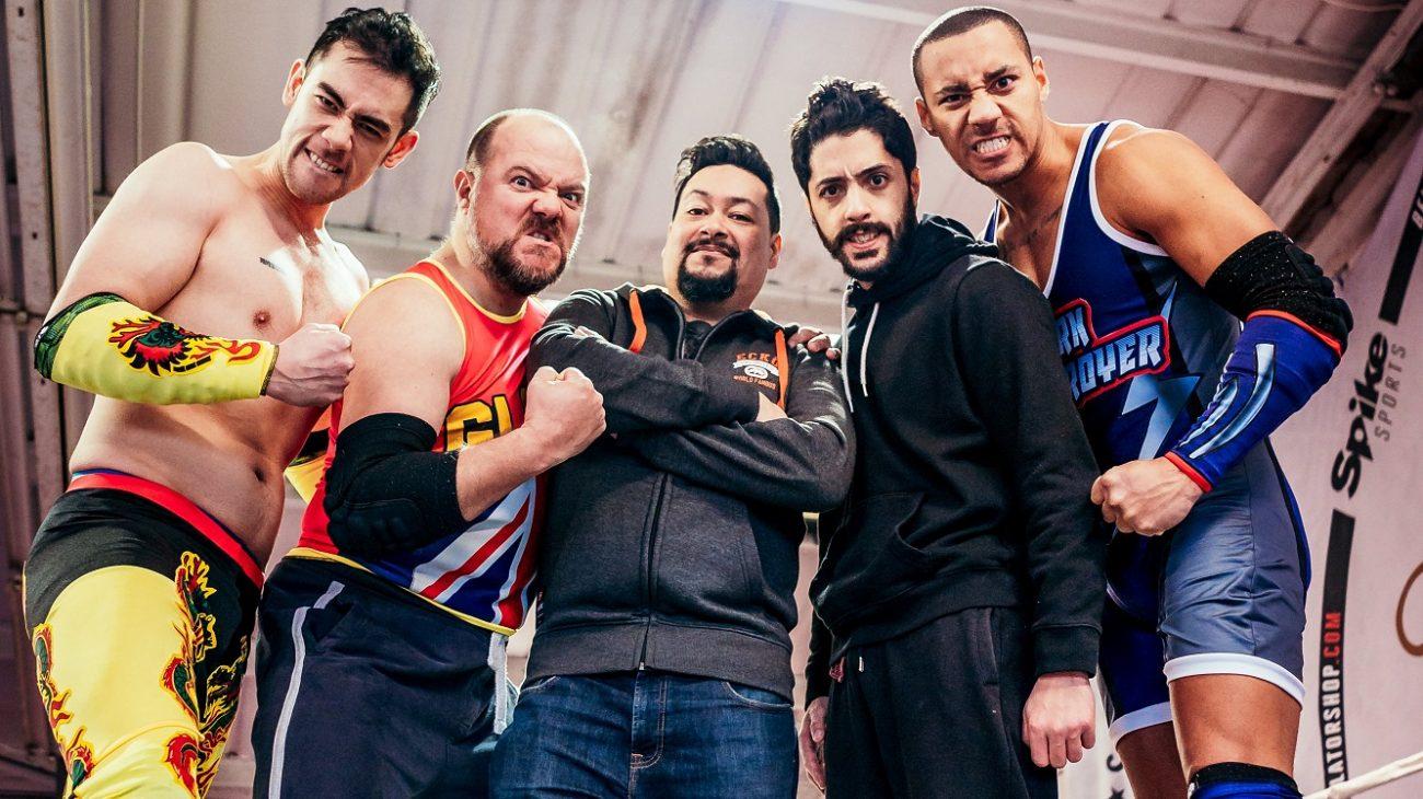Glory cast with writer Nick Ahad. Photo Andrew Billington