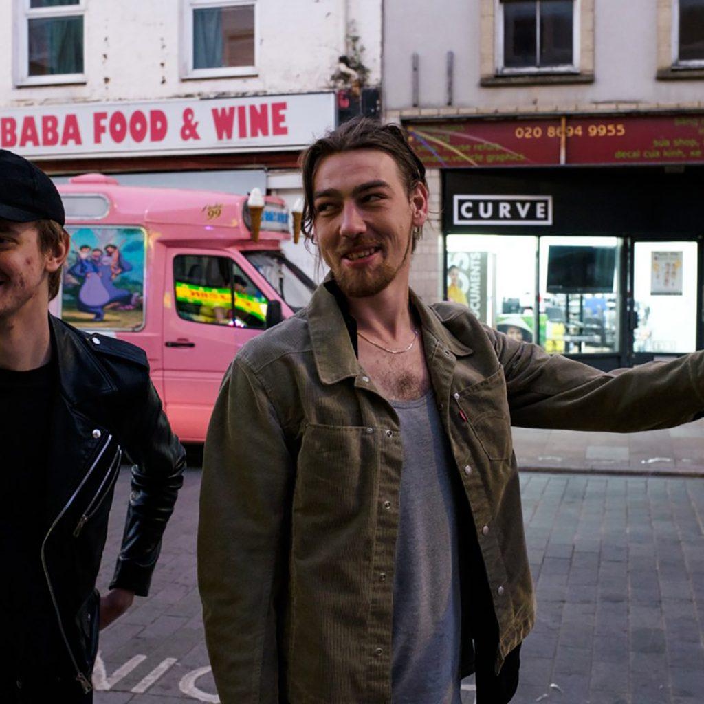 Two men in Deptford High Street
