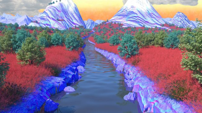 The View From Behind The Futuristic Rose Trellis