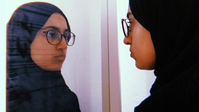 Muslim Women's Self-Portrait Painting