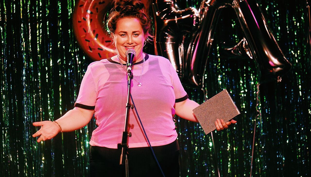 """Katie Greenall in """"Fatty fat fat"""""""
