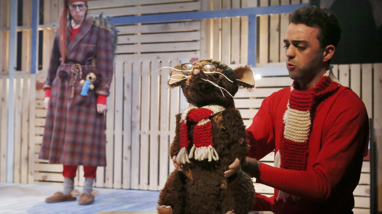 Photo by Luke MacGregor. Production image from Humbug the Hedgehog.