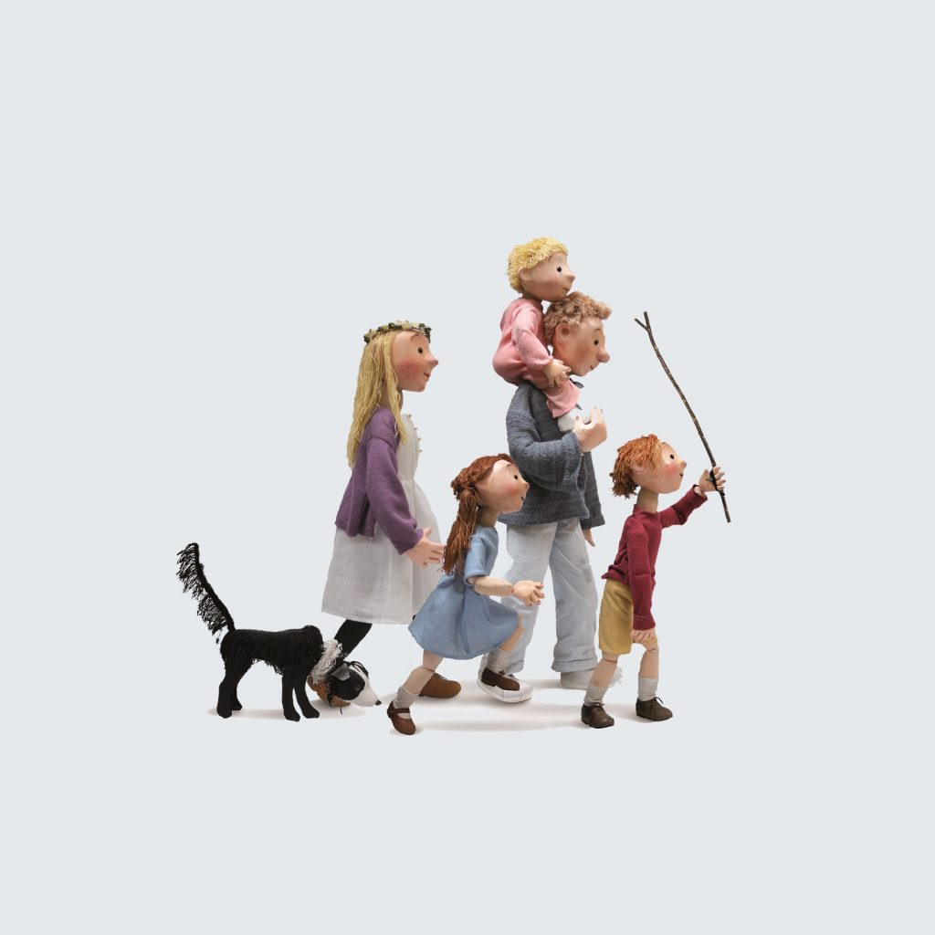 An image of a family walking together