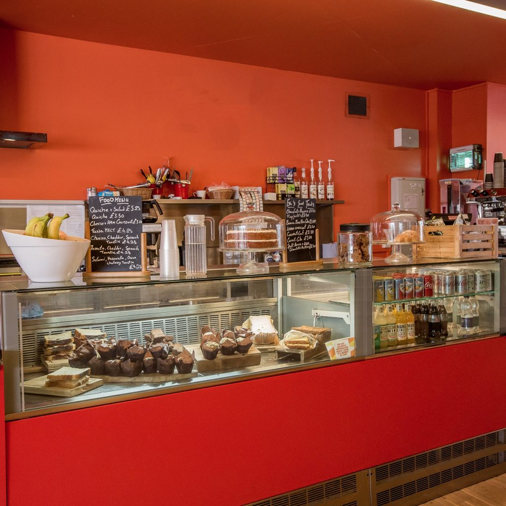 Image of a cafe counter