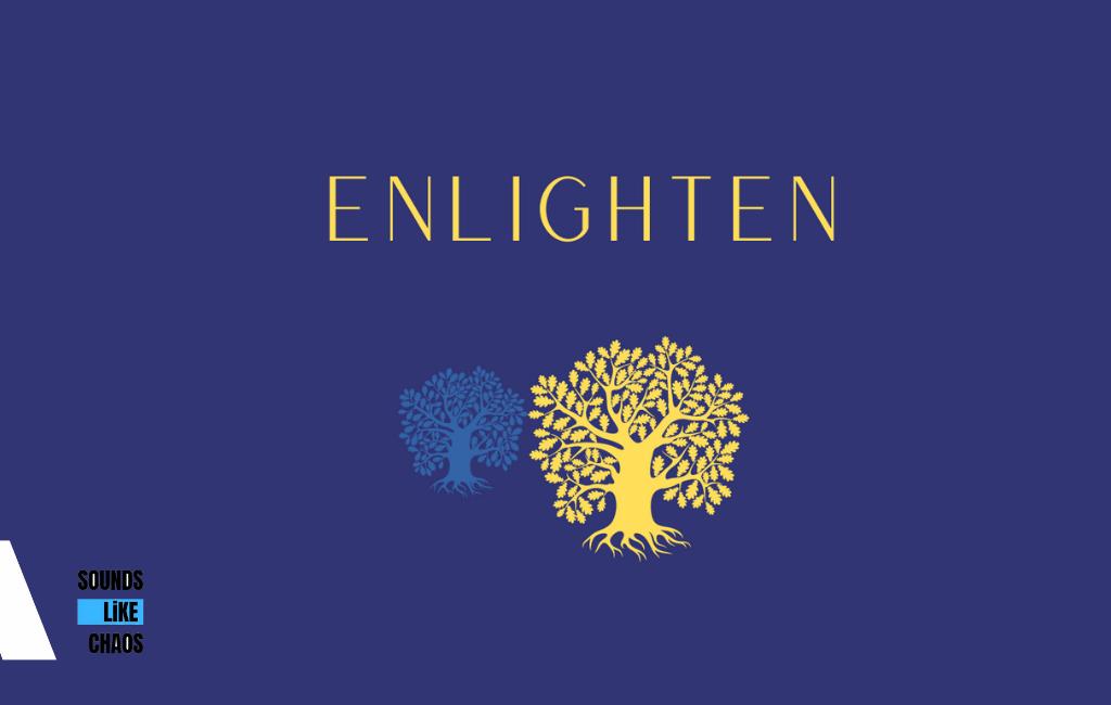 Enlighten image with logo